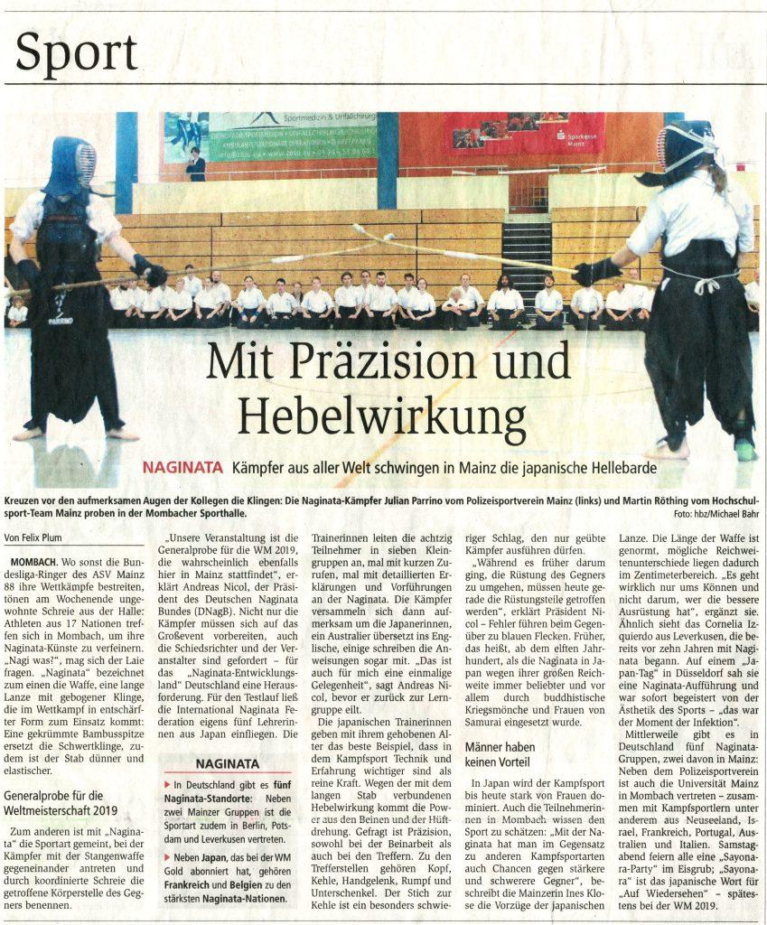 Zeitungsartikel zum INF-Seminar